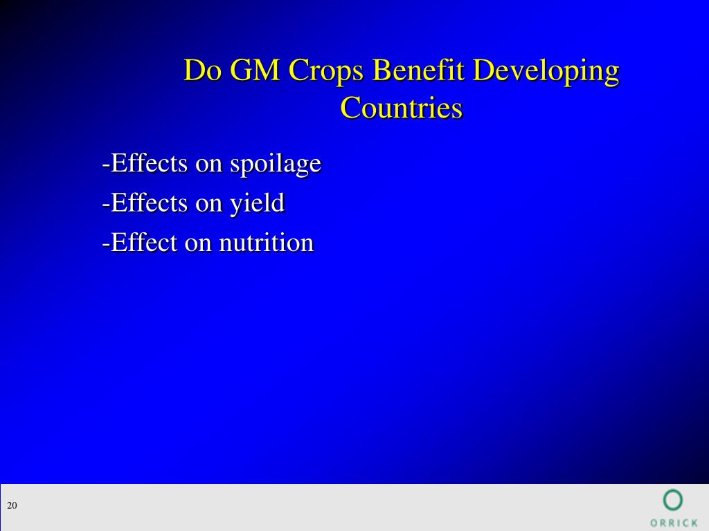 Do GM Crops Benefit Developing Countries