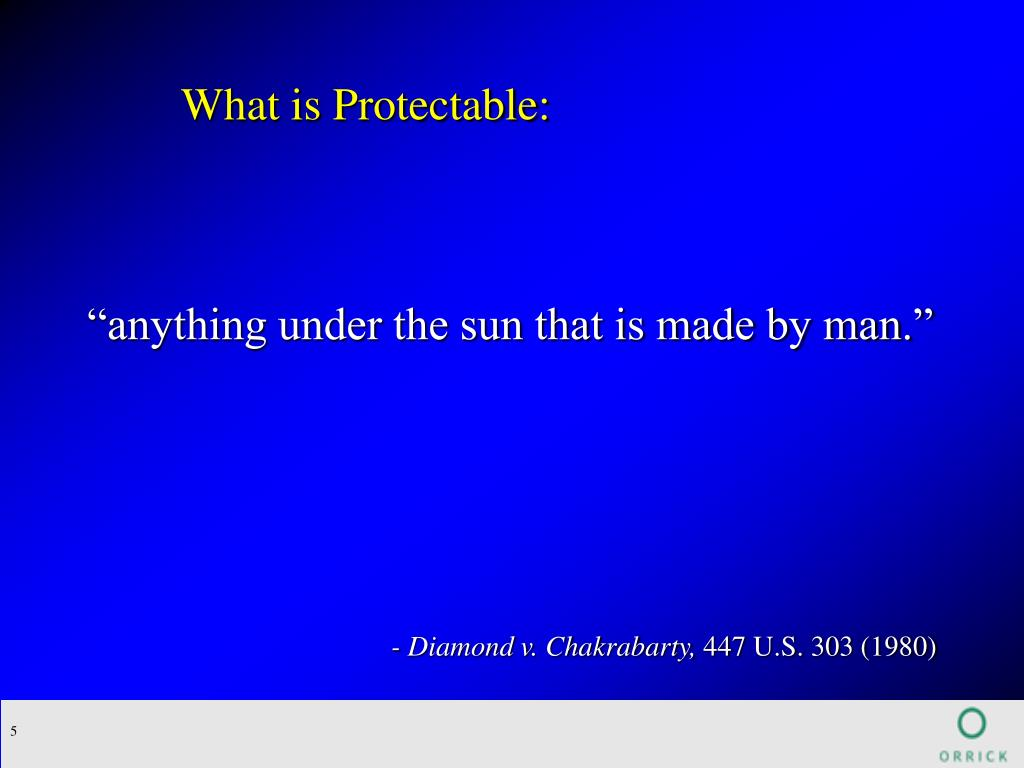 What is Protectable: