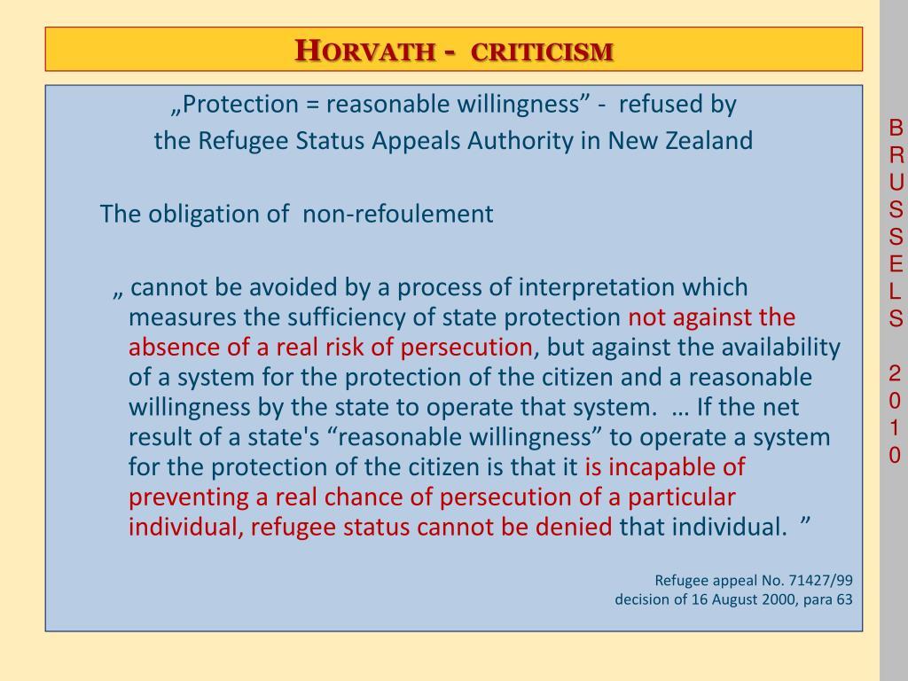 Horvath -  criticism
