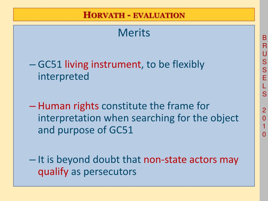 Horvath - evaluation