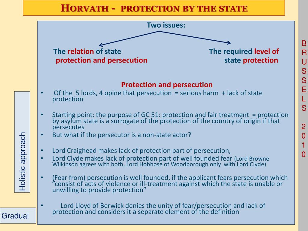 Horvath -  protection by the state