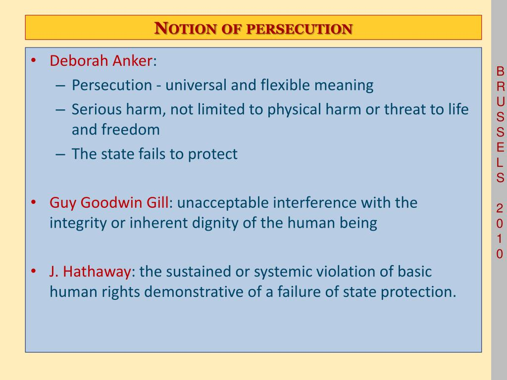 Notion of persecution
