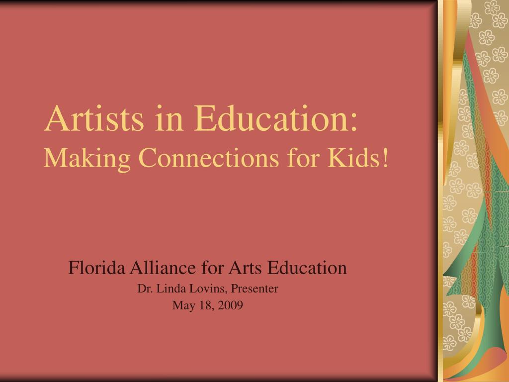 artists in education making connections for kids l.