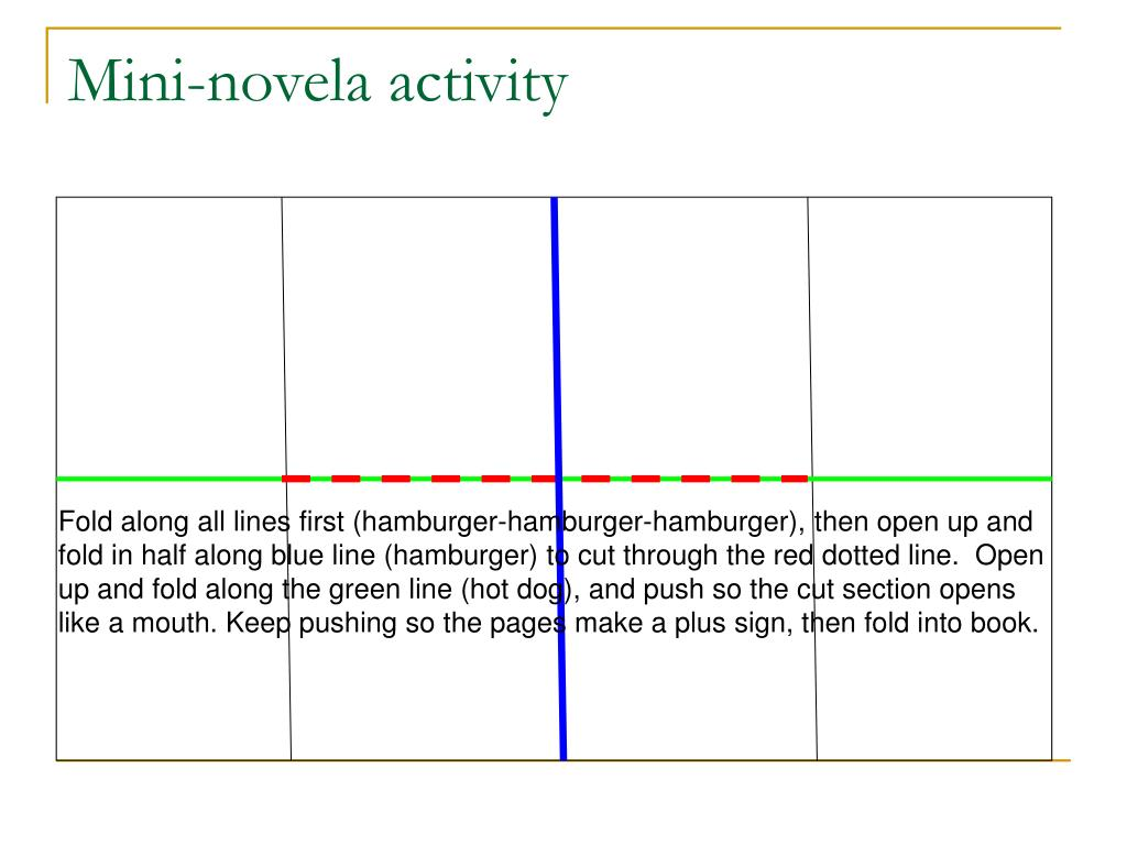 Mini-novela activity