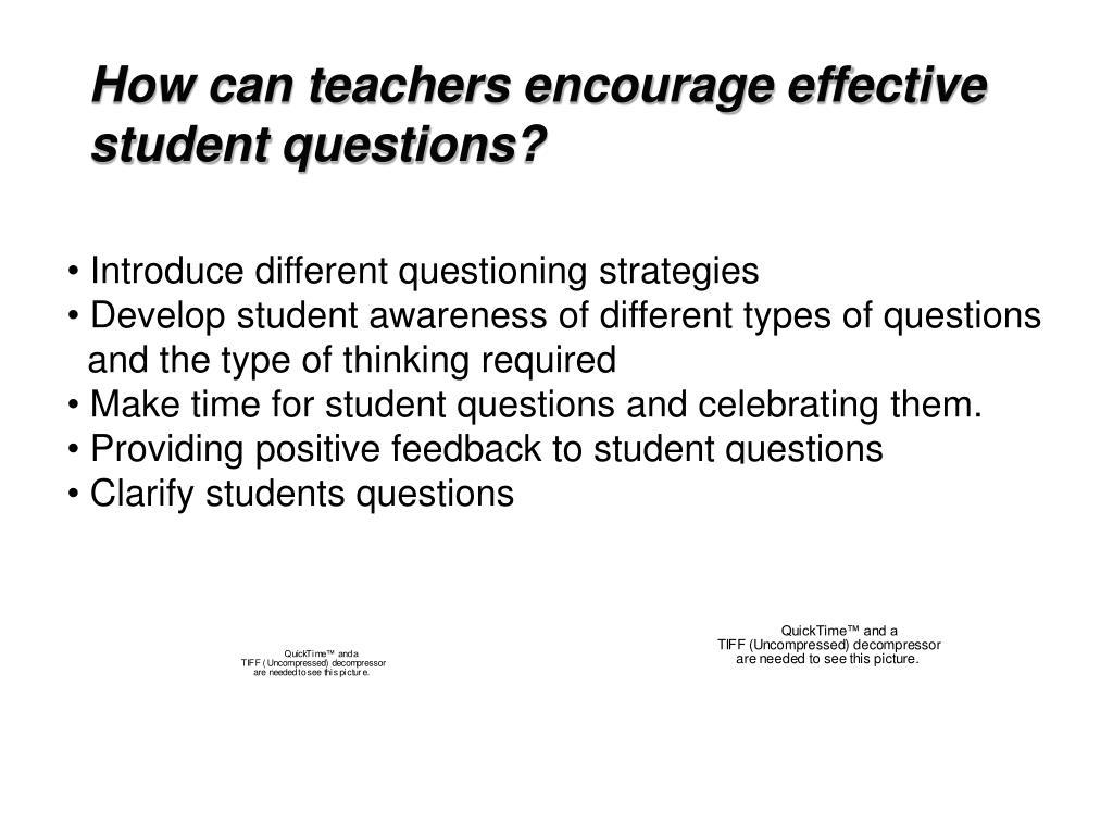 How can teachers encourage effective