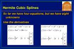 hermite cubic splines21