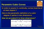 parametric cubic curves