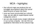 mca highlights