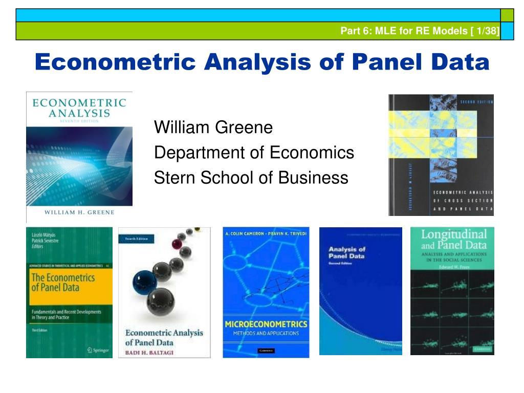 Econometric Analysis of Panel Data