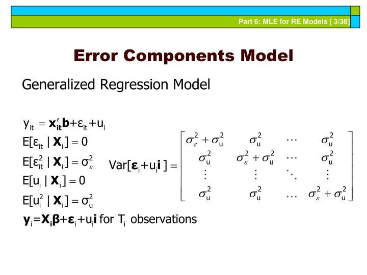 Error components model