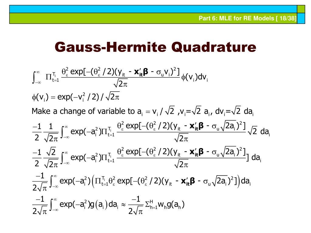 Gauss-Hermite Quadrature