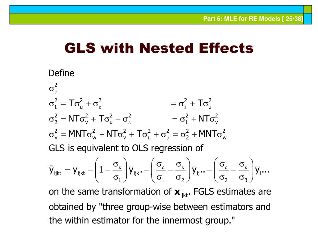 GLS with Nested Effects
