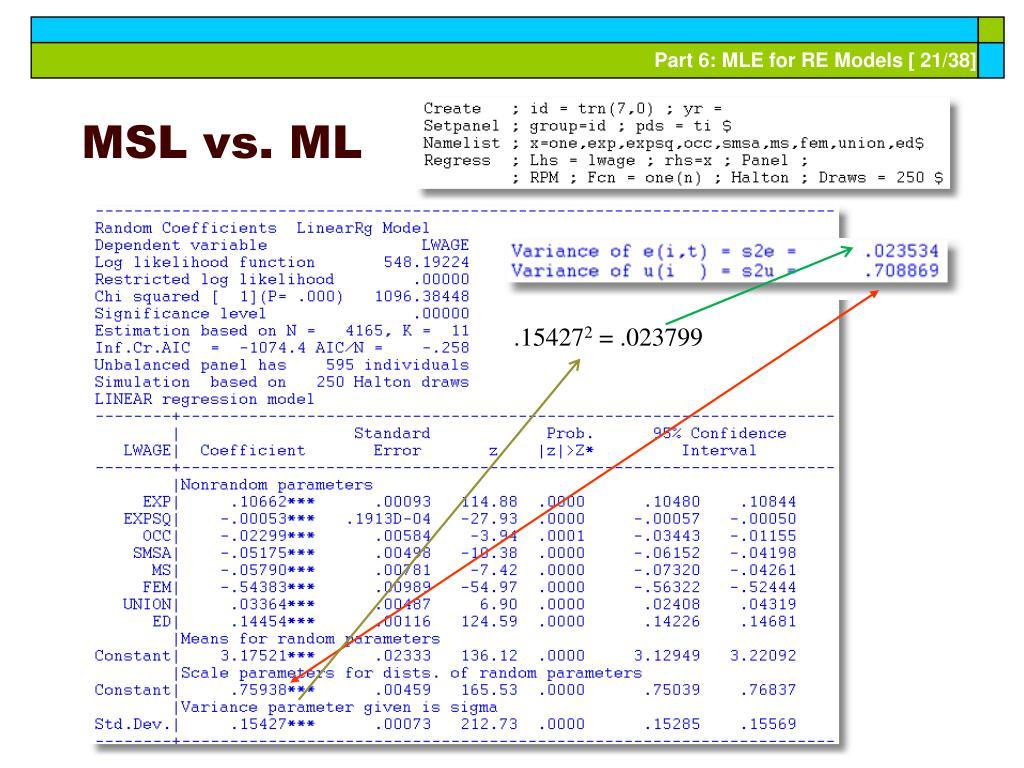 MSL vs. ML
