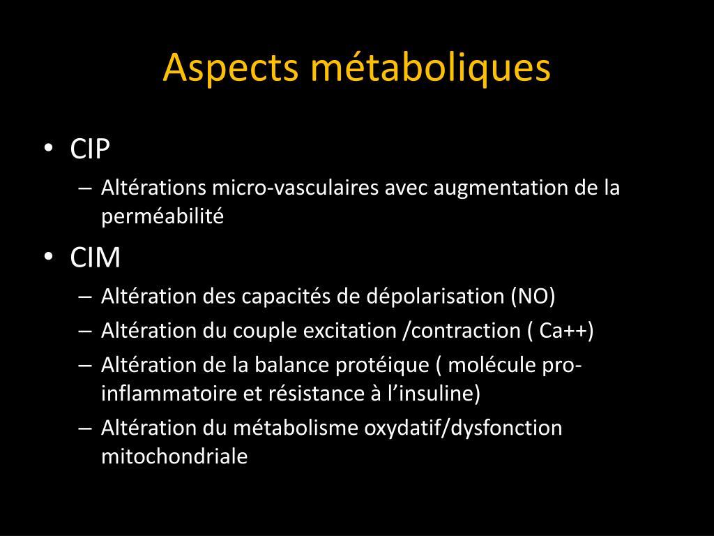 Aspects métaboliques