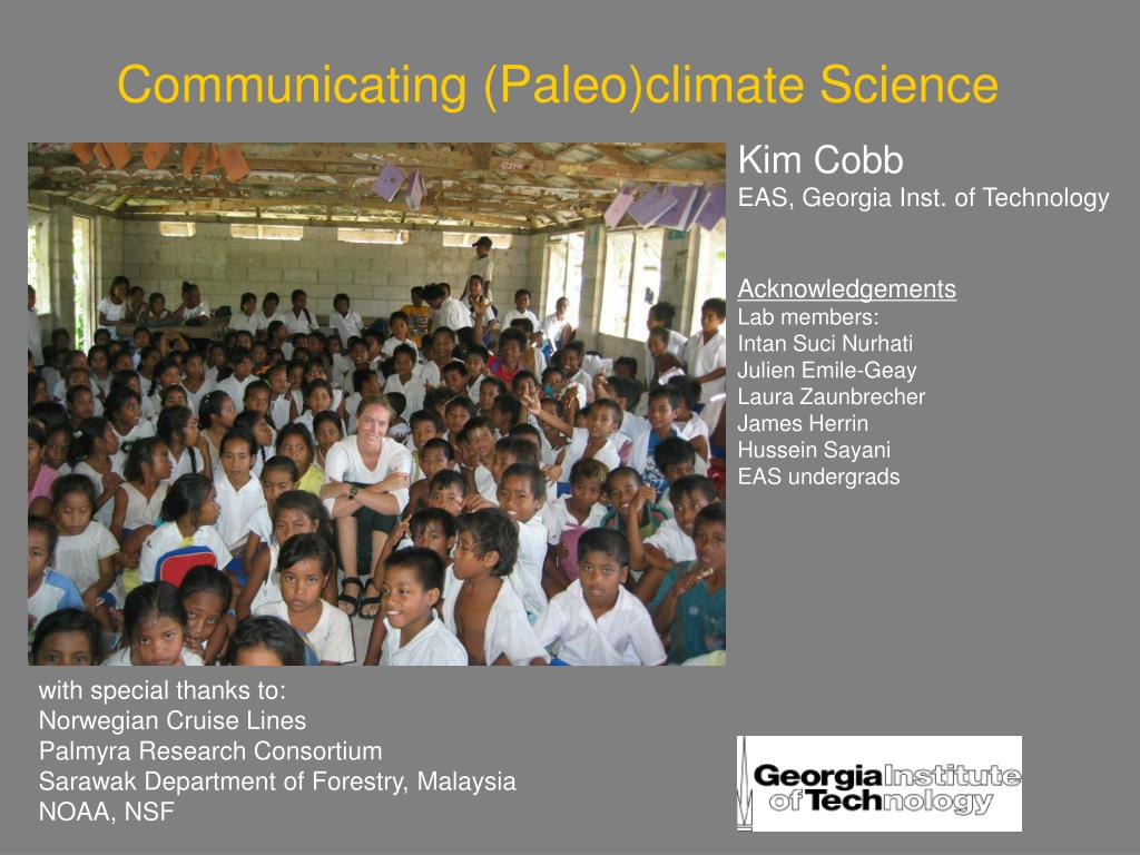 Communicating (Paleo)climate Science