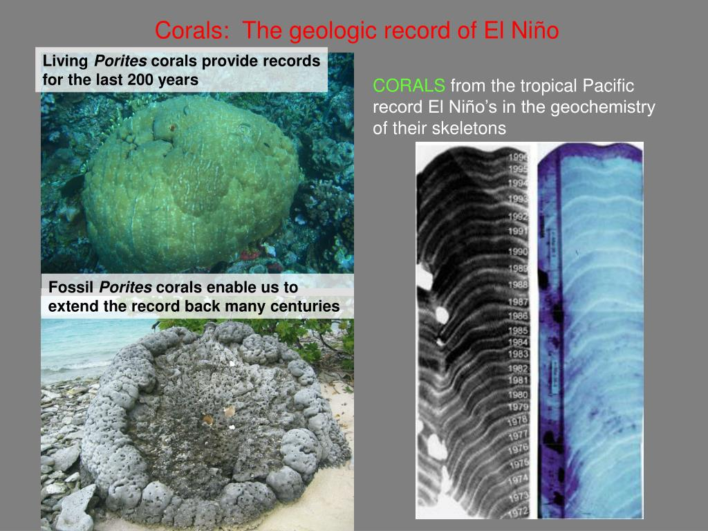 Corals:  The geologic record of El Niño