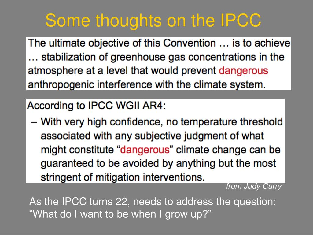 Some thoughts on the IPCC