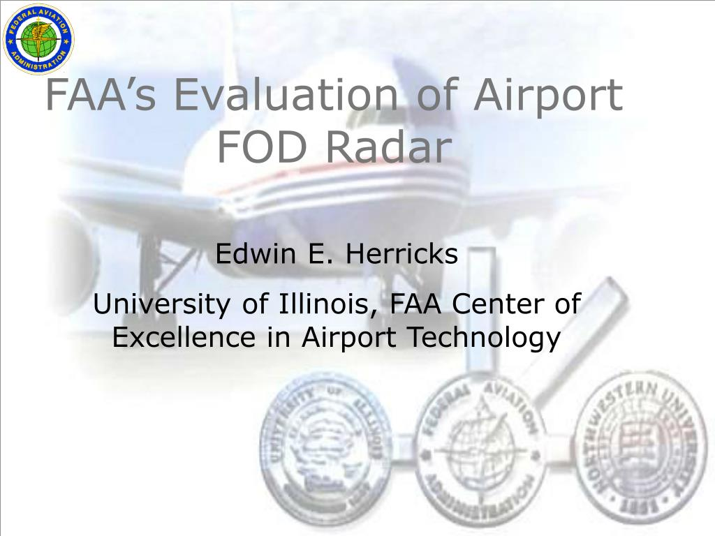 faa s evaluation of airport fod radar l.