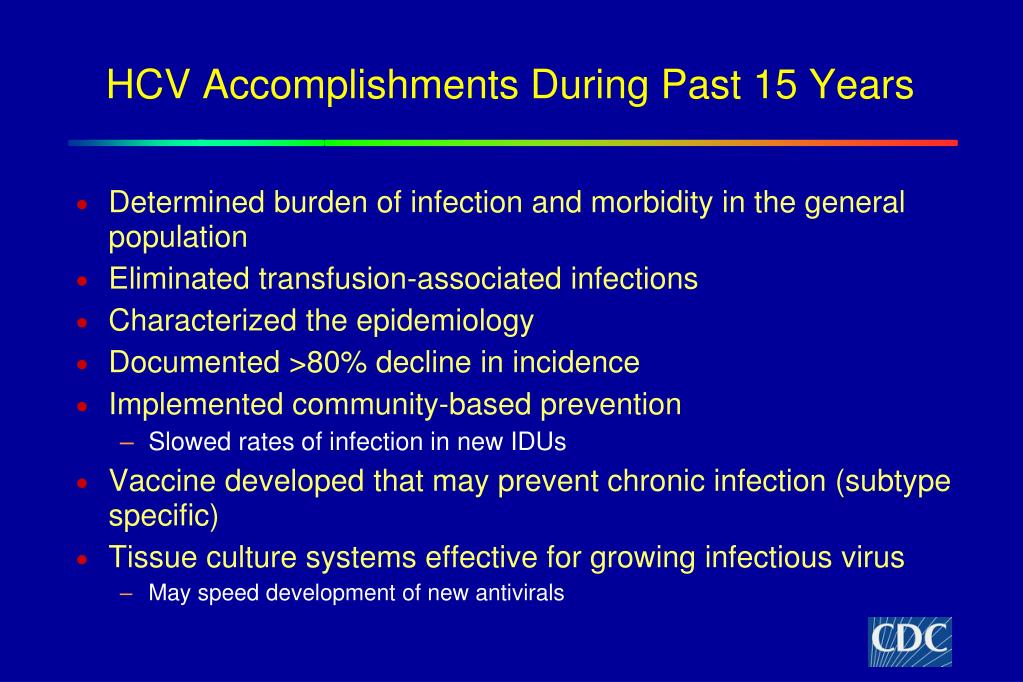 HCV Accomplishments During Past 15 Years