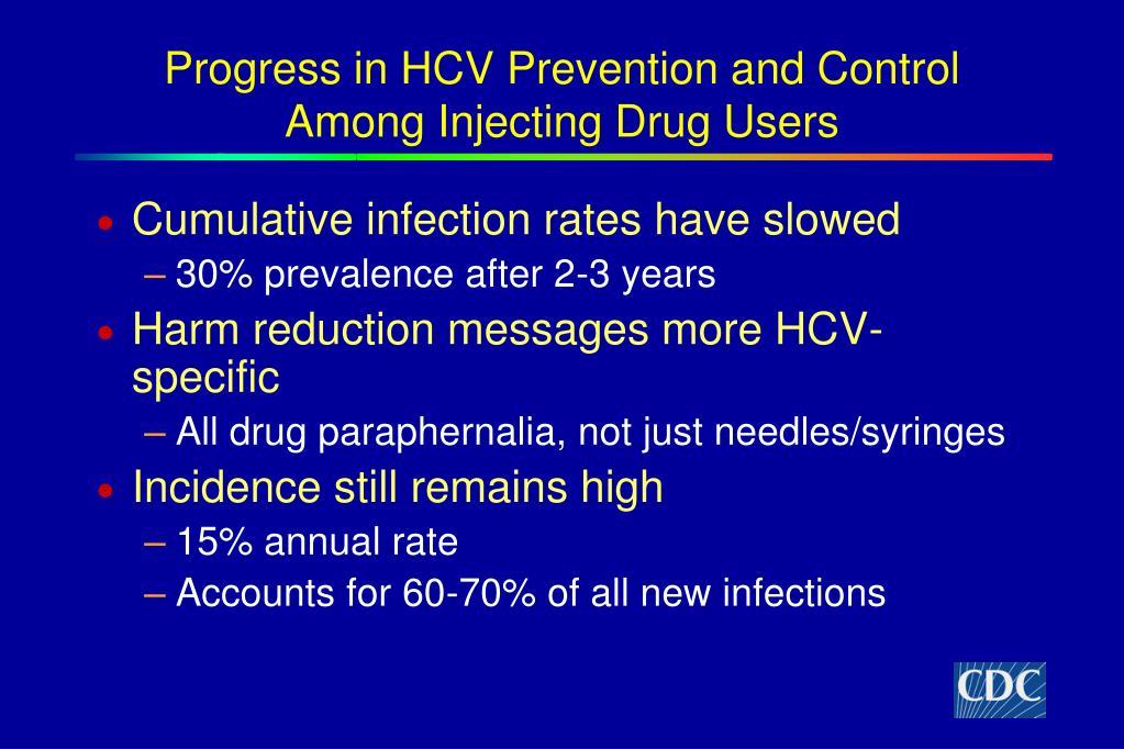 Progress in HCV Prevention and Control