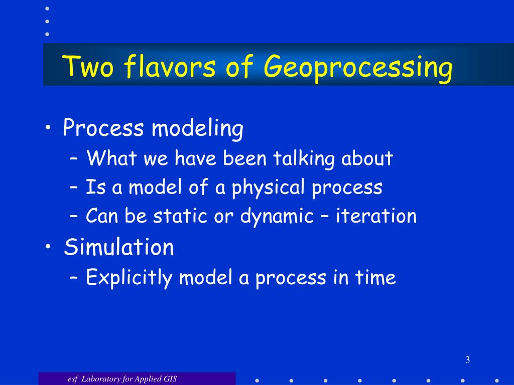 Two flavors of Geoprocessing