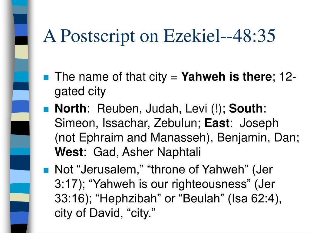 A Postscript on Ezekiel--48:35