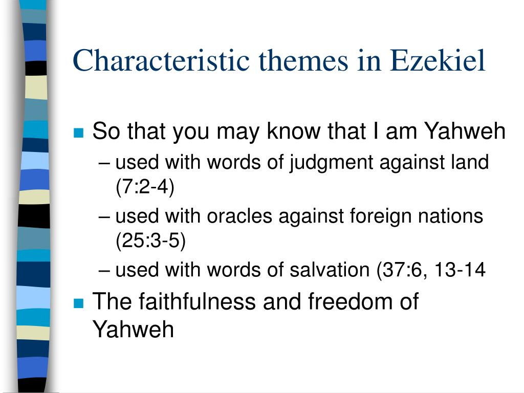 Characteristic themes in Ezekiel