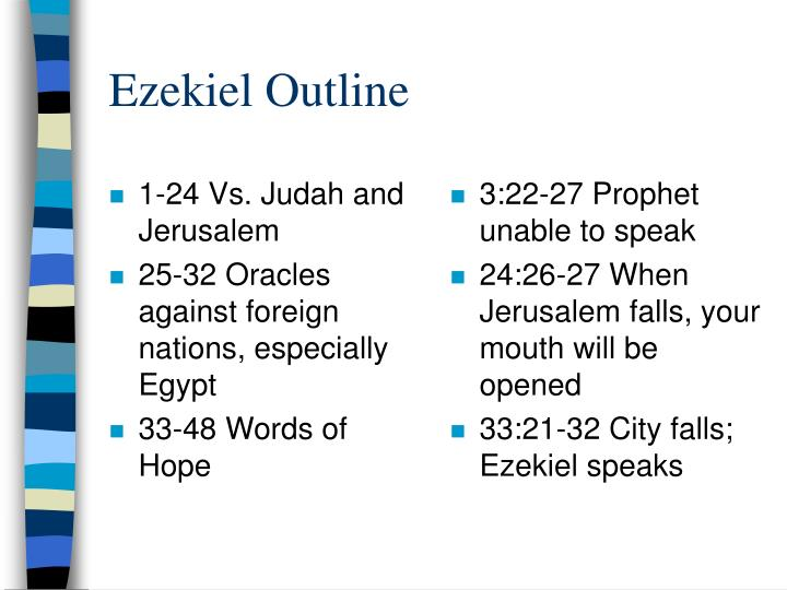 Ezekiel outline