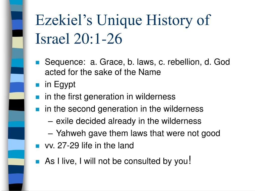 Ezekiel's Unique History of Israel 20:1-26