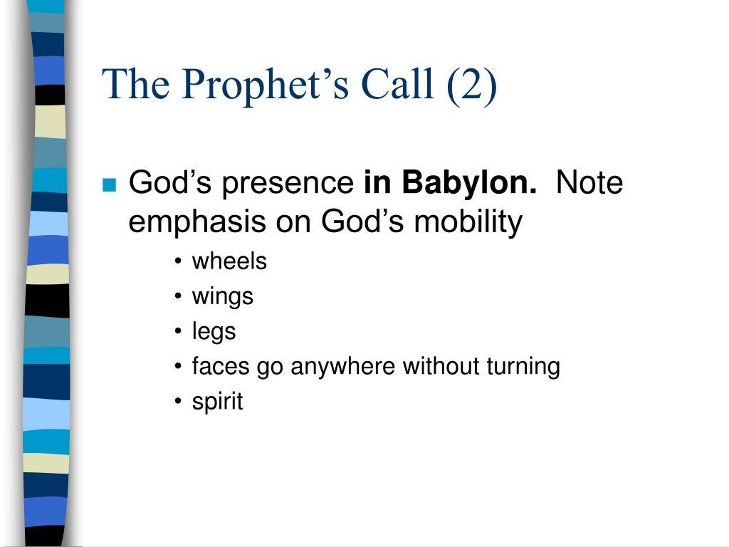 The Prophet's Call (2)