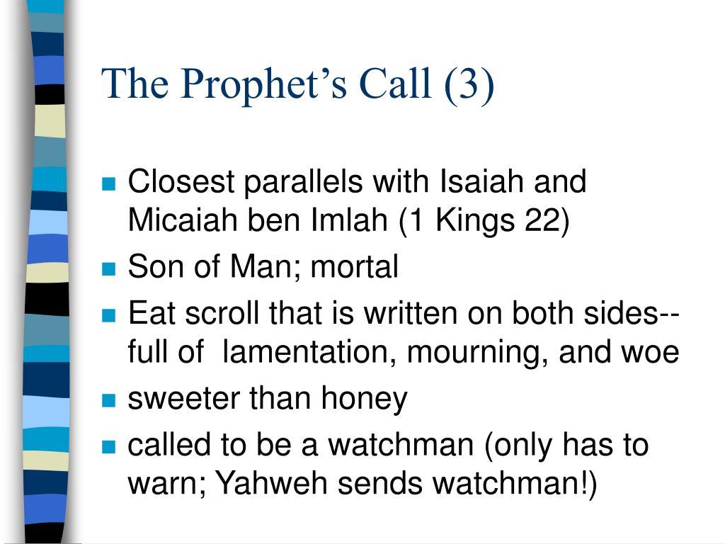 The Prophet's Call (3)