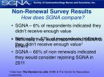 non renewal survey results how does sgna compare13
