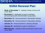 sgna renewal plan