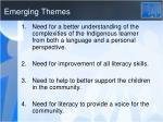 emerging themes