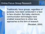online focus group research