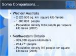 some comparisons