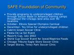 safe foundation of community