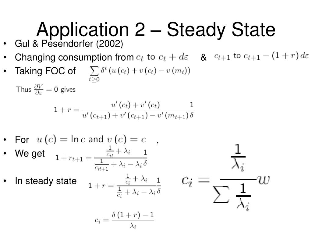 Application 2 – Steady State