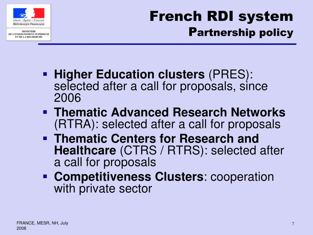 French RDI system