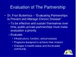 evaluation of the partnership