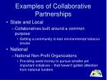 examples of collaborative partnerships