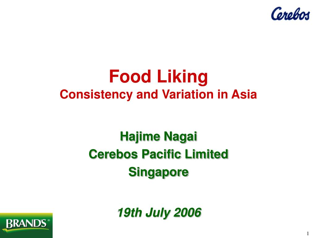 food liking consistency and variation in asia l.