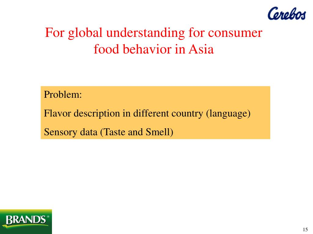 For global understanding for consumer food behavior in Asia