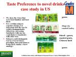 taste preference to novel drinks case study in us