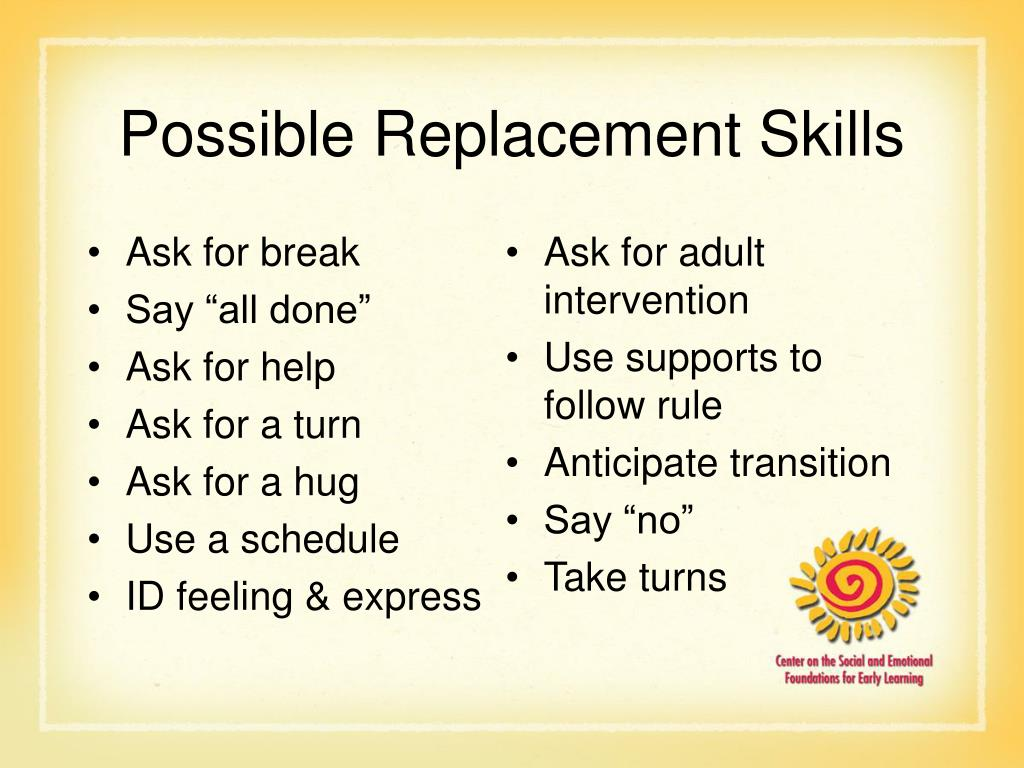 Possible Replacement Skills