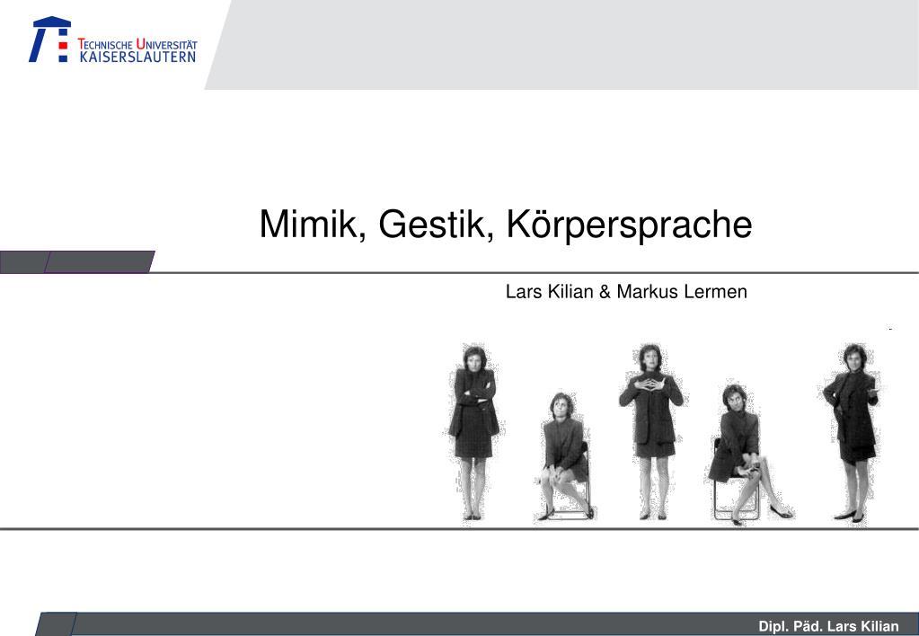 Gestik mimik und Mimik Beispiele