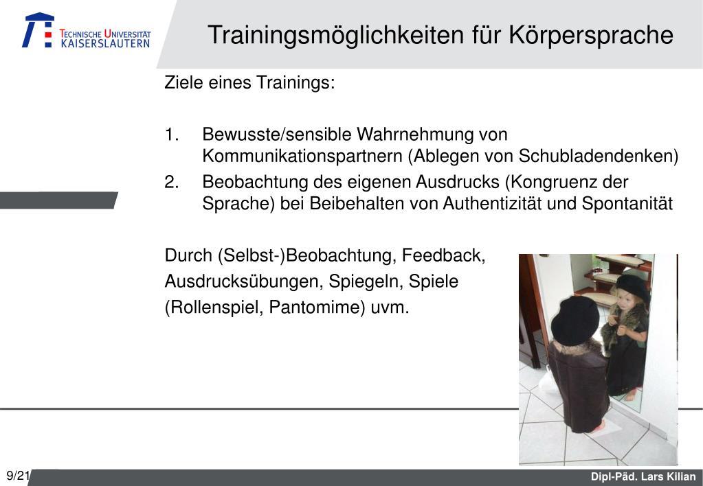 PPT - Mimik, Gestik, Körpersprache PowerPoint Presentation