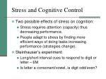 stress and cognitive control