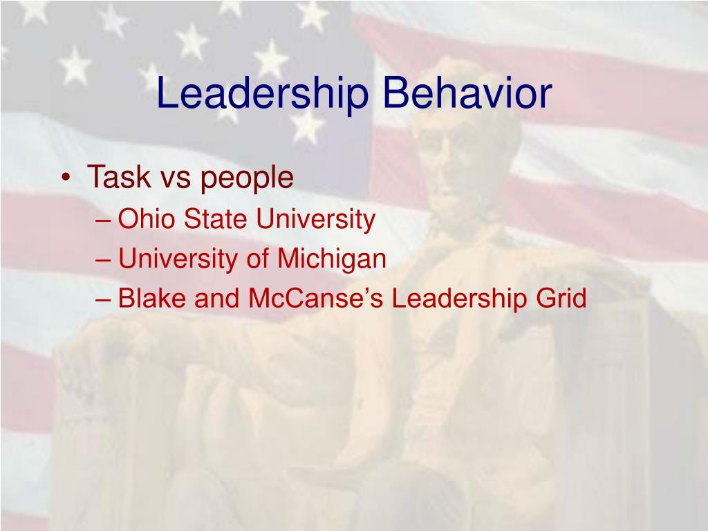 Leadership Behavior