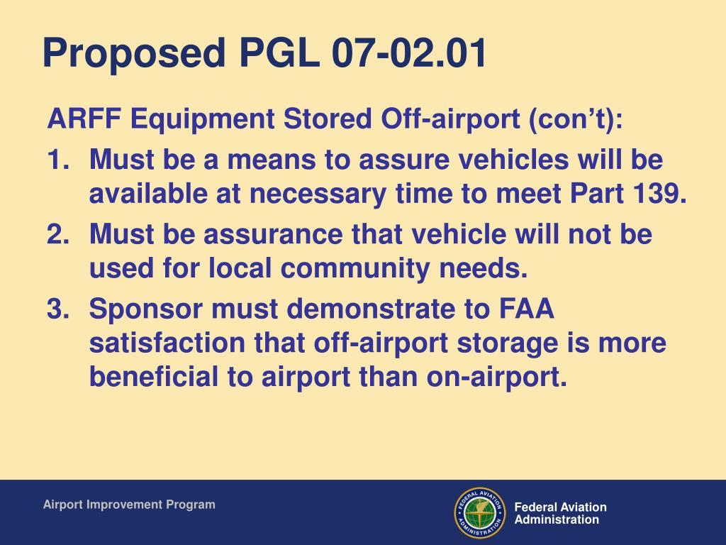 Proposed PGL 07-02.01